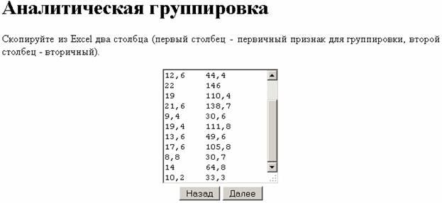 Вставка данных из Excel